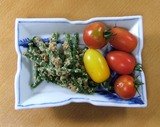 20130703 インゲン胡麻和えとミニトマト