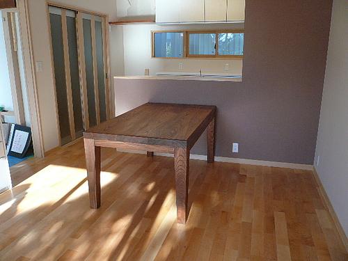 Y邸ケヤキのテーブル 納入2
