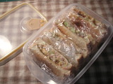 ツナ+コーンサンドイッチ