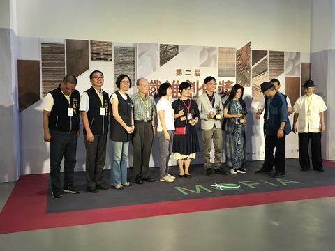 台中博物館での受賞者表彰式