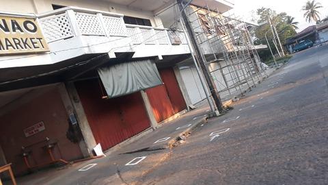 マリナオ村ロックダウン(都市封鎖)の商店