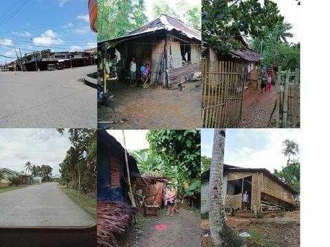 無人のカリボとマリナの道路と自宅に籠る多くの家族