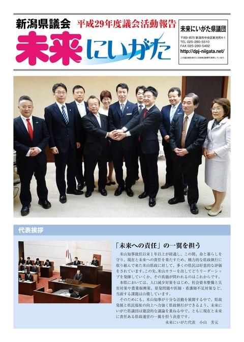 未来にいがた県議団平成29年度議会報告1