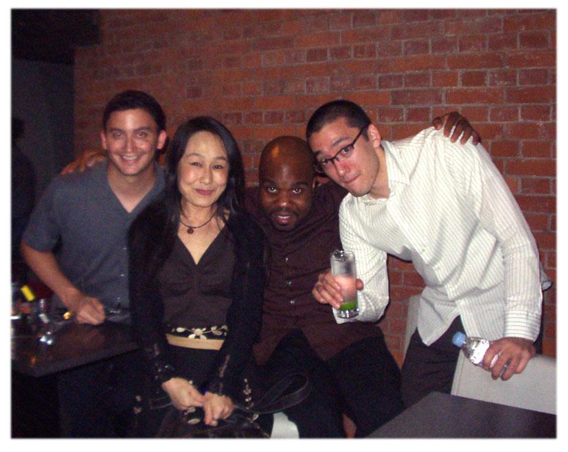 ♪画像:左・Martin Bejerano(p) 中央・Jaleel Shaw(sax)右・David Wong(b)