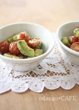 みるまゆオフィシャルブログ「おだんごカフェ@体に優しいナチュラルレシピ」Powered by Ameba-アボカドとプチトマトの粒マス醤油和え