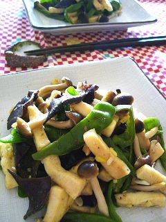 高野豆腐の中華炒め風