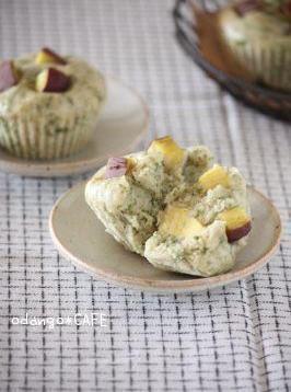おだんごカフェ@体に優しいナチュラルレシピ-青海苔しょうゆ味♪さつま芋の上新粉蒸しパン