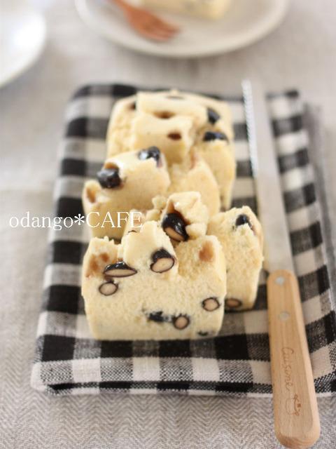 米粉の蒸しパウンドケーキ♪黒豆しょうゆ1_600