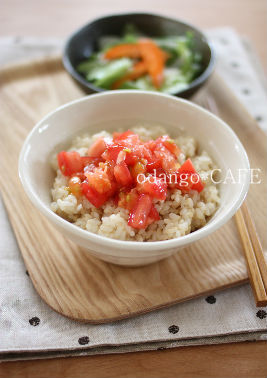 みるまゆオフィシャルブログ「おだんごカフェ@体に優しいナチュラルレシピ」Powered by Ameba-トマトの即席ぶっかけ丼