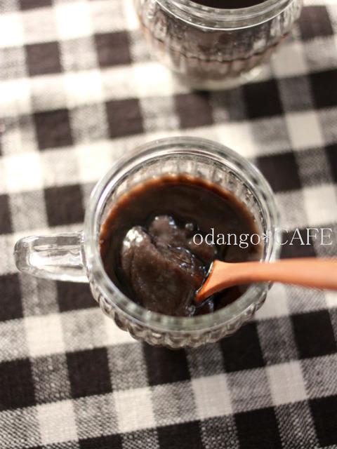 黒豆の煮汁でリメイクスイーツ♪なめらか葛プリン(2)_600