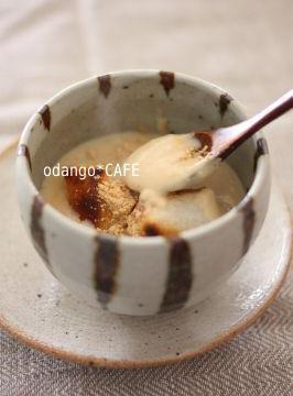 おだんごカフェ@体に優しいナチュラルレシピ-米粉でとろり♪豆乳きなこのクリームぜんざい