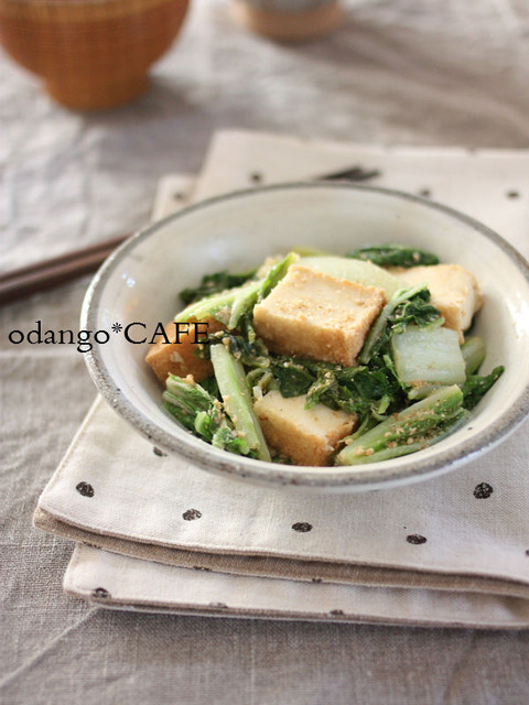 白菜と厚揚げのにんにくごまみそ炒め1_600