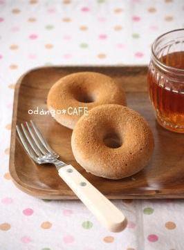 おだんごカフェ@体に優しいナチュラルレシピ-米粉のベイクド・ドーナツ♪シナモン風味