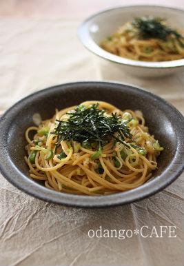 みるまゆオフィシャルブログ「おだんごカフェ@体に優しいナチュラルレシピ」Powered by Ameba-ごま油風味♪ねぎしょうゆの和風パスタ