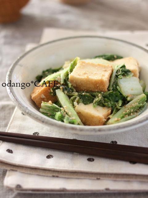 白菜と厚揚げのにんにくごまみそ炒め2_600