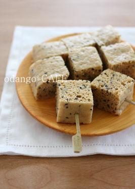 みるまゆオフィシャルブログ「おだんごカフェ@体に優しいナチュラルレシピ」Powered by Ameba-米粉の味噌きなこ蒸しケーキ
