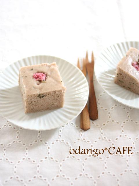 桜スイーツ♪米粉とあんこの蒸しケーキ_600