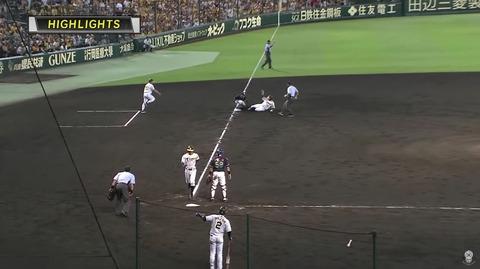 昨日の阪神の変則ダブルプレーの戦犯wwwww