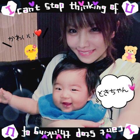 【速報】赤ん坊を抱いてる田中れいなちゃんが聖母マリア様のように美しいと話題に!!