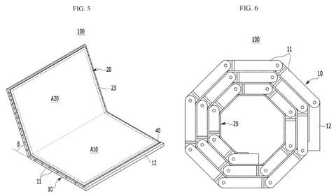 記事タイトル【企業】サムスン、多数のヒンジでクルクル丸められるディスプレイを考案--特許取得