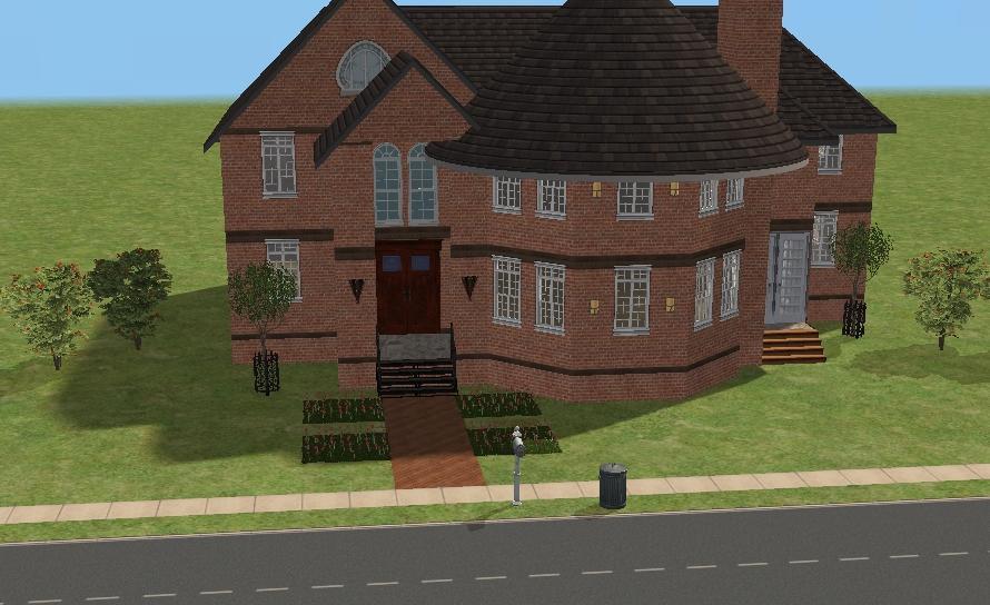 1202-7 色々な屋根を集めた家。 Simsの建築では屋根を掛けるのがやはり難しい... 建築