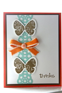 Butterfly Prints Thank You card