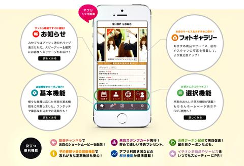 お店の公式アプリ作成サービス - 『みせプリ』