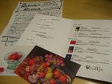 リチェッタ ワイン会 ワインリストと素敵なポストカード
