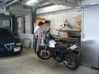 新人クンとバイク