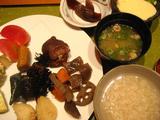 奈良の朝  茶粥1