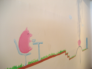ポルコ壁画 コーヒーブレイク