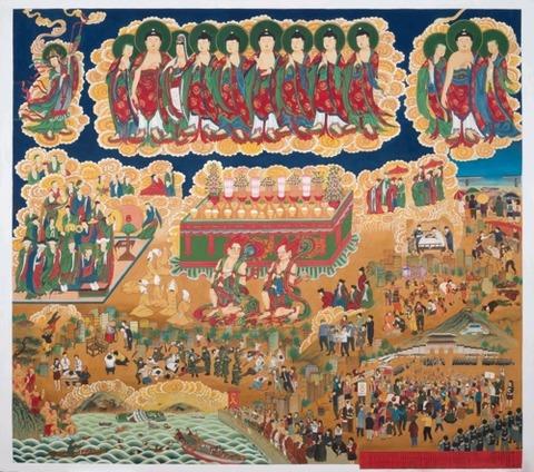 【韓国】 仏画でなだめるセウォル号の痛み…長谷寺甘露図奉安~慰安婦少女像設置も描く