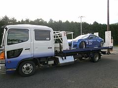 スバルBRZと積車