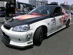 痛車ホンダ・シビッククーペ(EJ7)左前