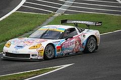 DIJON音々CALLAWAYワコーズEDキャラウェイ・コルベットZ06R GT3鈴鹿ピットレーン入り口