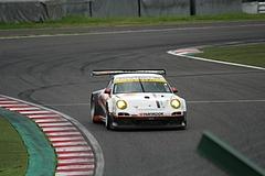 ハンコック ポルシェ911GT3R 鈴鹿最終コーナー