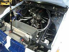 SSワークスelfレビン(AE86)エンジンルーム