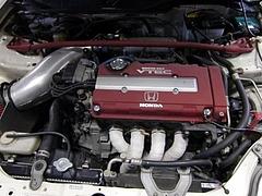 走行134,500kmのエンジン(B16B)