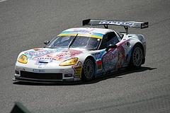 DIJON音々CALLAWAYワコーズEDキャラウェイ・コルベットZ06R GT3鈴鹿ホームストレート
