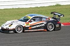 ハンコック ポルシェ911GT3R 鈴鹿逆バンクコーナー
