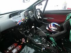 ホンダ・シビック タイプRユーロ(FN2)スーパー耐久仕様運転席