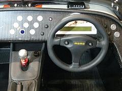ケータハム スーパーライトR500運転席