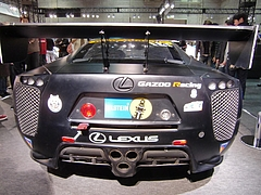 レクサスLF-Aニュル24時間耐久レース参戦車両リヤビュー