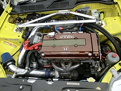 ホンダ・シビック タイプR(EK9)エンジンルーム