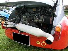 フィアット・アバルト1000TCRエンジンルーム