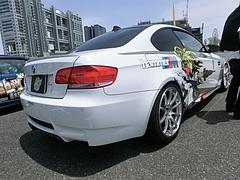 痛車BMW・M3(E92)右後ろ