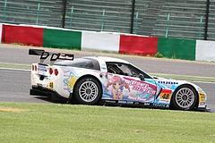 DIJON音々CALLAWAYワコーズEDキャラウェイ・コルベットZ06R GT3 鈴鹿2コーナー