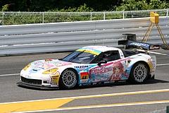 DIJON音々CALLAWAYワコーズEDキャラウェイ・コルベットZ06R GT3鈴鹿ピットレーン出口