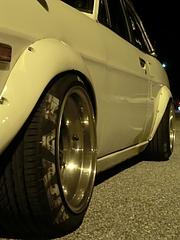 日産・サニー(B110)フロントタイヤ