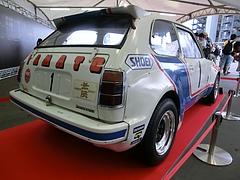初代ホンダ・シビックレース仕様車右後ろ